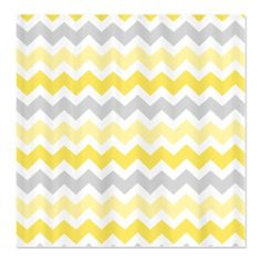 Yellow Grey Chevron Shower Curtain - I love but its 57 dollars. It's just a shower curtain.