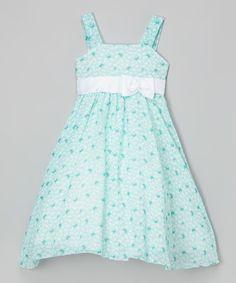 Kid Fashion Light Blue Butterfly Bow-Sash Dress - Toddler & Girls | zulily