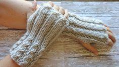Soft Wool Blend Fingerless Gloves in Beautiful Light Grey Winter Accessories Winter Gloves Womens Gloves