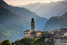 Soglio. Bergell. Graubünden. Schweiz. / Solio. South-East Switzerland. Swiss Alps.