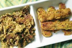 Zucchini Polenta Fries and Zucchini Polenta Scramble [Vegan] | One Green Planet