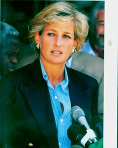 Diana, Princess of Wales at Luanda Airport in Angola following her visit to the African country on behalf of the Red Cross. 1997
