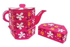Tea Party Table Centerpieces - Favor Boxes by Creative Converting. $31.95. Tea Party Table Centerpieces feature a vibrant pink tea pot design built out of 3 favor boxes. These decorative centerpieces serve as both decoration and favors for your guests. Use our wholesale party supplies to add fun and excitement to any girl's birthday event or celebration! © All Rights Reserved. Package Type: Poly packaged and bar-coded for retail opportunities. Case Quantity: 12 Teapot Table ...