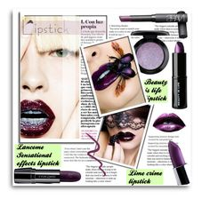 """""""Metallic Lips"""" by theawsomewallflower ❤ liked on Polyvore featuring Lancôme, Beauty Is Life, NARS Cosmetics, MAC Cosmetics, Lime Crime and Topshop"""