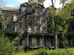 with my girlfriend in VT, when…abandoned orphanage ghost house Old Abandoned Buildings, Abandoned Property, Old Buildings, Abandoned Places, Old Mansions, Abandoned Mansions, Abandoned Plantations, Spooky Places, Haunted Places