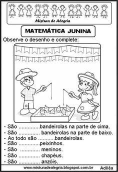 Resultado de imagem para ATIVIDADES JUNINA MATEMATICA