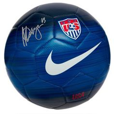 Signing After Completion of World Cup. Team USA Super Star Alex Morgan personally hand-signed this Nike Soccer Ball. - Guaranteed Authentic - Includes Steiner Sports Certificate of Authenticity - Nike Soccer Ball, Usa Soccer Team, Soccer Gear, Good Soccer Players, Soccer Equipment, Soccer Fans, Play Soccer, Soccer Cleats, Soccer Stuff