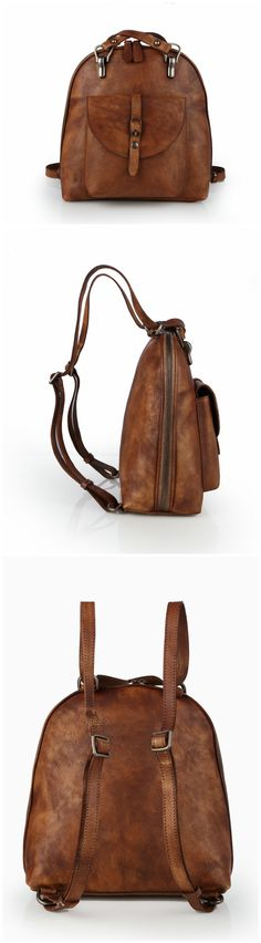 Leather Backpack Women Backpack