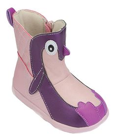 This Purple Penny the Penguin Zipper Boot is perfect! #zulilyfinds