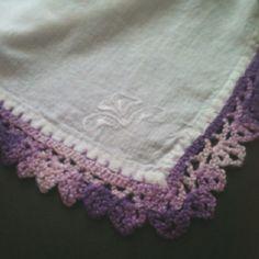 Crochet lace handkerchief