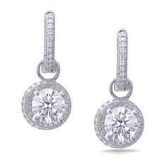 Gold Diamond Dangle Earrings See more amazing jewelry at RadiantRings.net! #jewelry