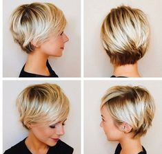 Inspiration for when I grow out my pixie #shorthairstylescortes