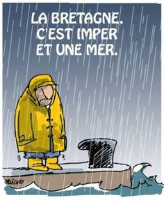 Ah la Bretagne sous la pluie !
