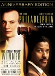 philadelphia the movie; This is another favorite of mine the acting is superb and it was perfectly done to show human rights of all people and showcase the prejudice that people had on an epidemic that was and is still sweeping the nation.