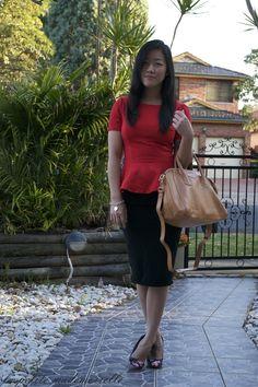 BLOGGED la petite mademoiselle: 21st birthday. Glassons peplum / Asos skirt / Asos heels / Sterling & Hyde bag