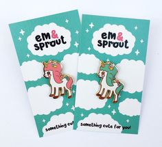 Unicorn hard enamel lapel pin - pink or mint by emandsprout on Etsy https://www.etsy.com/listing/481556739/unicorn-hard-enamel-lapel-pin-pink-or