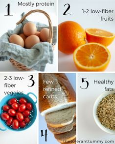 what foods are in a low fiber diet
