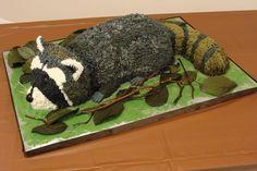 Raccoon cake...love it!