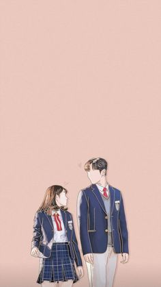 Cute Couple Drawings, Cute Couple Art, Anime Love Couple, Cute Anime Couples, Cute Drawings, K Wallpaper, Anime Scenery Wallpaper, K Drama, Cute Couple Wallpaper