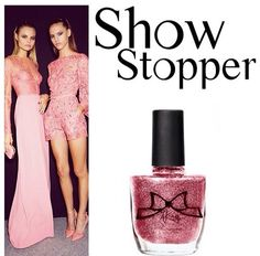 AKayStyle Nail Lacquer in Show Stopper. A pretty pink glitter for Summer! Find it at akaystyle.com