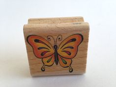 Butterfly - Sweet - Vintage Rubber Stamp - Card Making - Crafts  161222 by SirStampinton