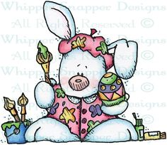 Creative Bunny - Rabbits - Animals - Rubber Stamps - Shop