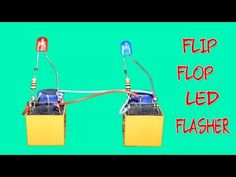 a09c4c43a Flip Flop LED Flasher circuit using Two Relay only