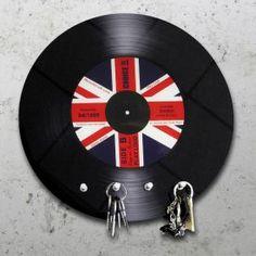 Schallplatte Union Jack - Schlüsselbrett