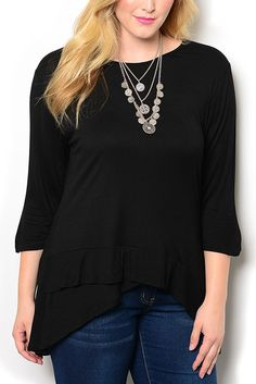 http://www.dhstyles.com/Black-Plus-Size-Chic-Fitted-Asymmetrical-Ruffled-H-p/araz-110x-black.htm