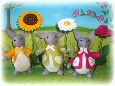 Susannelfes Blumenkinder für den Jahreszeitentisch: Mir sind meine Blumen- Hasen wieder eingefallen,.....
