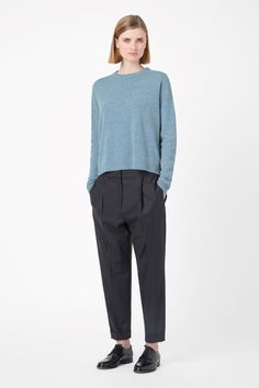 COS | Leather elbow jumper