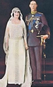 Prince Albert, Duke of York, and Lady Elizabeth Bowes-Lyon were married on 26 April 1923 in Westminster Abbey. Unexpectedly, Elizabeth laid her bouquet at the Tomb of the Unknown Warrior on her way into the Abbey, in memory of her brother Fergus. Ever since, the bouquets of subsequent royal brides have traditionally been laid at the tomb, though after the wedding ceremony rather than before