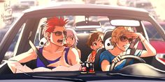 "Can you imagine this xD Axel and Roxas arguing back and forth about missing the turn and Xion sitting in between them like,""Settle down, there are children in the back"" and Sora and Riku are just kinda,""lOOK AT THIS OUTSIDE WORLD STUFF WHAT IS THIS"""