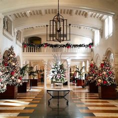Boca Raton Resort & Club looks its finest at Christmas, when 600,000 lights are strewn about the 356-acre resort, along with 40 decorated Christmas trees, including a 40-footer at the property's entrance. Photo courtesy of giekatz on Instagram.