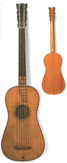 Another guitar by the Godfather of stringed instruments, Antonio Stradivario, from the baroque period. Built 1688.