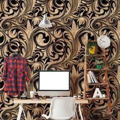 Papel de parede adesivo arabesco