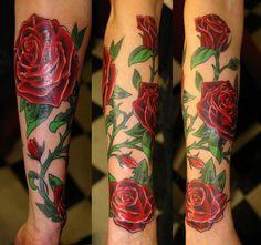 #Tatuaje #Rosas #Rojo