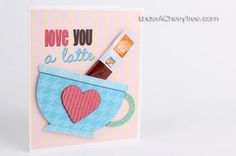 Lettering Delights - Love You A Latte card