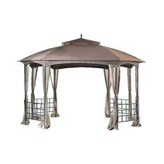 """Hexton \""""  \"""" Outdoor Gazebo, Black ($323) ❤ liked on Polyvore featuring home, outdoors, outdoor decor, black, outdoor garden decor, outdoor sun decor, outdoor patio decor and outside garden decor"""