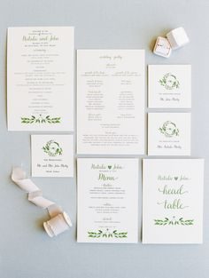 Foliage-inspired invitation suite: http://www.stylemepretty.com/2016/03/20/spring-preview-every-detail-you-need-to-see-this-season/