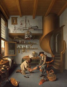 Isaack Kodijek    Barber-Surgeon Tending a Peasant's Foot    1649-50