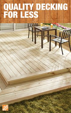 Get the beauty of real wood without the concerns of rot, termites or weather damage. Ground contact lumber is low-maintenance, allowing you to enjoy your deck for years to come. Find top name brands like WeatherShield at The Home Depot. Click to shop low-maintenance styles.