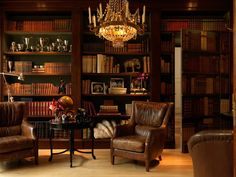 Best old home library room design and decorating ideas english dream beautiful libraries cosy . home Library Study Room, Home Library Rooms, Home Library Design, Home Libraries, Home Office Design, Library Ideas, Office Style, Vintage Library, Vintage Office