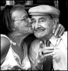 """""""Old Lovers"""" the sweetest thing is to see an old couple still madly in love with each other. I hope to find a love so strong."""