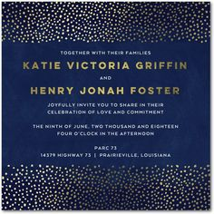 Twinkle Sky - Signature Foil Wedding Invitations - Picturebook - Baltic - Blue : Front