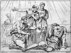 Alexander consoled by the philosophers after killing Cleitus