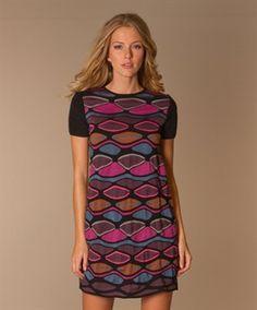 M Missoni Bubble Shift Dress - Pink/Aubergine/Blue/Brown - M Missoni | Perfectly Basics