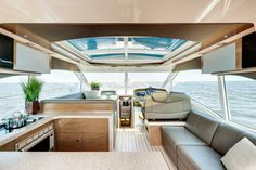 Cruisers Yachts 45 Cantius: With the galley aft and settee forward the 45 Cantius is like a small motoryacht.