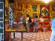 The interior of the original Tepoznieves shop in Tepoztlan.  Yes, they let you taste!