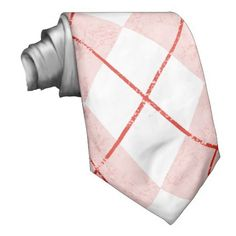 Red & Black Argyle Abstract Pattern Men's Tie
